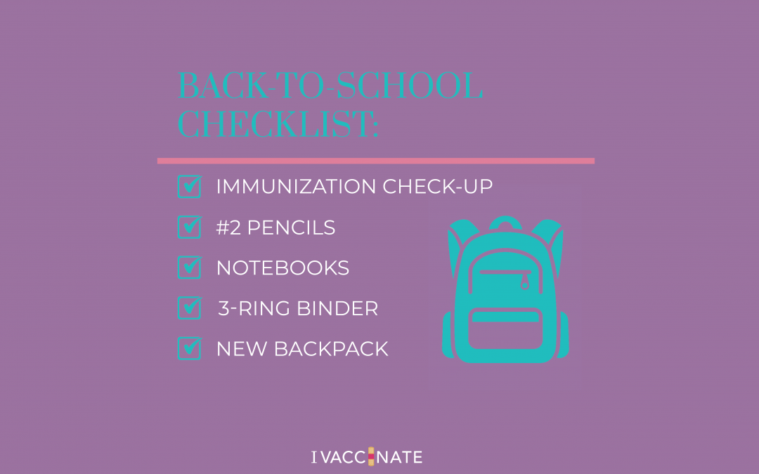 Parents: Put vaccines at the top of your back-to-school checklist