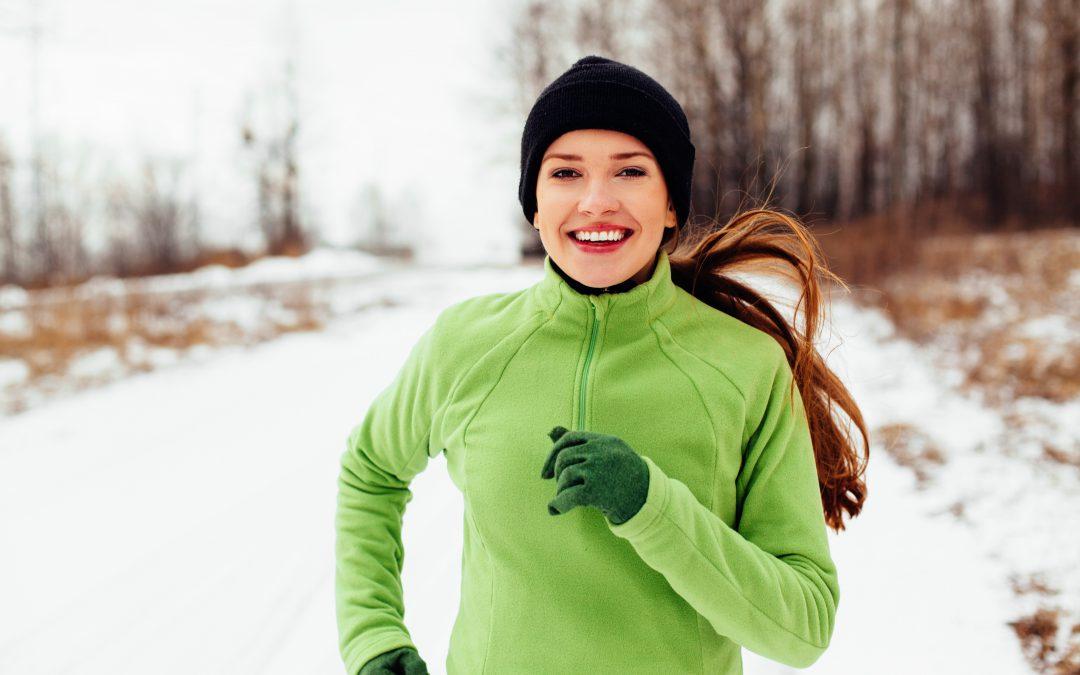 healthy woman running